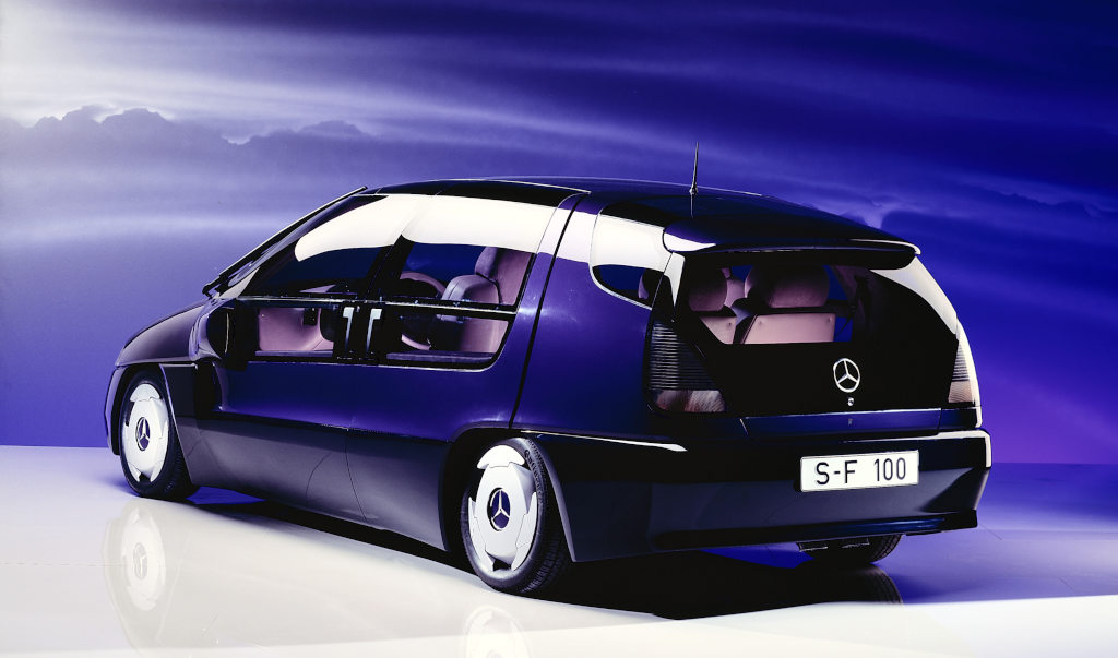 The Mercedes-Benz F 100 research vehicle celebrates its 25-year anniversary