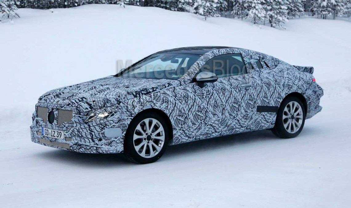 2017 Mercedes E-Class Coupe spied again by Walko (video)