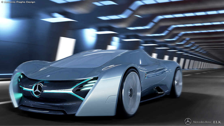 The Mercedes Benz Elk Electric Supercar Imagination