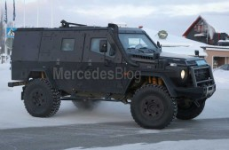 Mercedes G-Class LAPV. Panzer armored G 500 4X4² spied