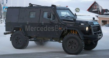 Mercedes G-Class LAPV. Panzer armored G 500 4X4² spied