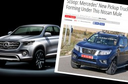 Future Mercedes pick-up testing in Nissan clothes
