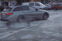 Crazy old man scares the hell out of the Mercedes-Benz technicians in the best speed prank ever!