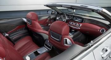 """Mercedes-AMG S 63 4MATIC  Cabriolet """"Edition 130"""" (Fuel consumption combined: 10.4 l /100 km; combined CO2 emissions: 244 g/km; Kraftstoffverbrauch kombiniert: 10,4 l/100 km; CO2-Emissionen kombiniert: 244 g/km)Interieur: designo Exclusive Leder Nappa bengalrot/schwarzinterior: designo exclusive leather nappa bengal red/blackZierteile: AMG Zierteile Carbon/ Klavierlack schwarztrim parts: AMG carbon-fibre / black piano lacquer Exterieur: AMG Alubeam silberexterior: AMG alubeam silver"""