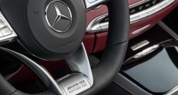 """Mercedes-AMG S 63 4MATIC  Cabriolet """"Edition 130"""" (Fuel consumption combined: 10.4 l /100 km; combined CO2 emissions: 244 g/km; Kraftstoffverbrauch kombiniert: 10,4 l/100 km; CO2-Emissionen kombiniert: 244 g/km)Interieur: designo Exclusive Leder Nappa bengalrot/schwarzinterior: designo exclusive leather nappa bengal red/blackZierteile: AMG Zierteile Carbon/ Klavierlack schwarztrim parts: AMG carbon-fibre / black piano lacquer"""