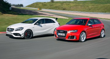 Power-Benz beats 5-cylinder Audi. Mercedes-AMG A 45 versus RS3