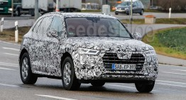 GLC rival uncovered. 2017 Audi Q5 caught with less camouflage