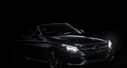 Out in the open! Mercedes-Benz C-Class Cabriolet shows sensual front design