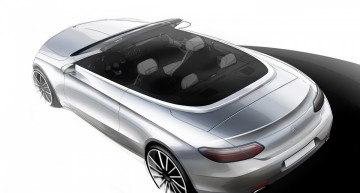 It's that teasing game again – 2017 Mercedes-Benz C-Class Cabriolet sketched before its Geneva debut