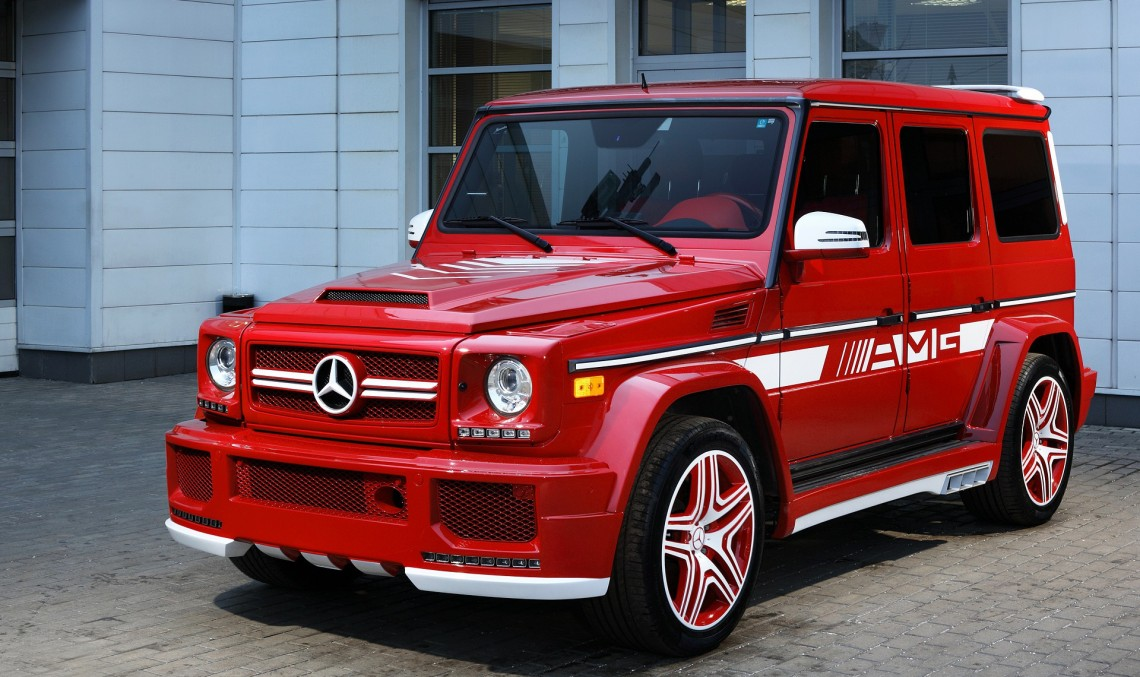 Mercedes-AMG G63 RED – This car is on fire!