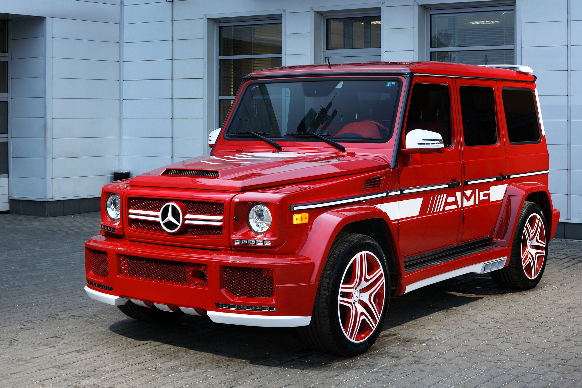 Mercedes Amg G63 Red This Car Is On Fire Mercedesblog