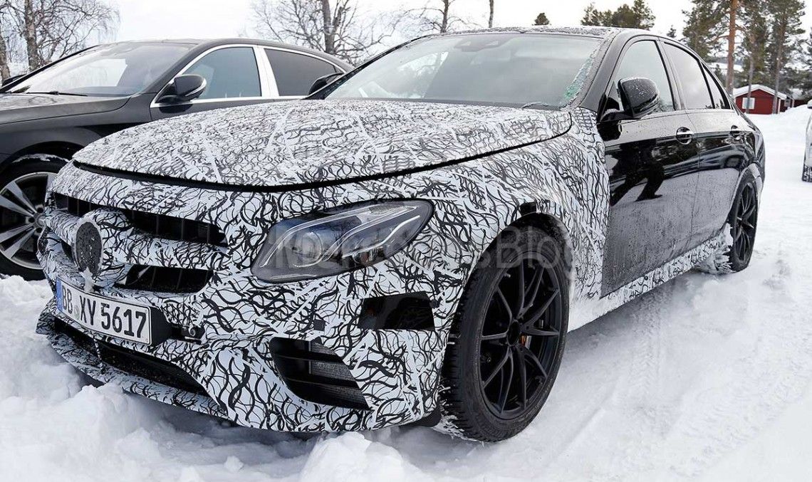 600 hp Mercedes-AMG E 63 spied. Up close and personal