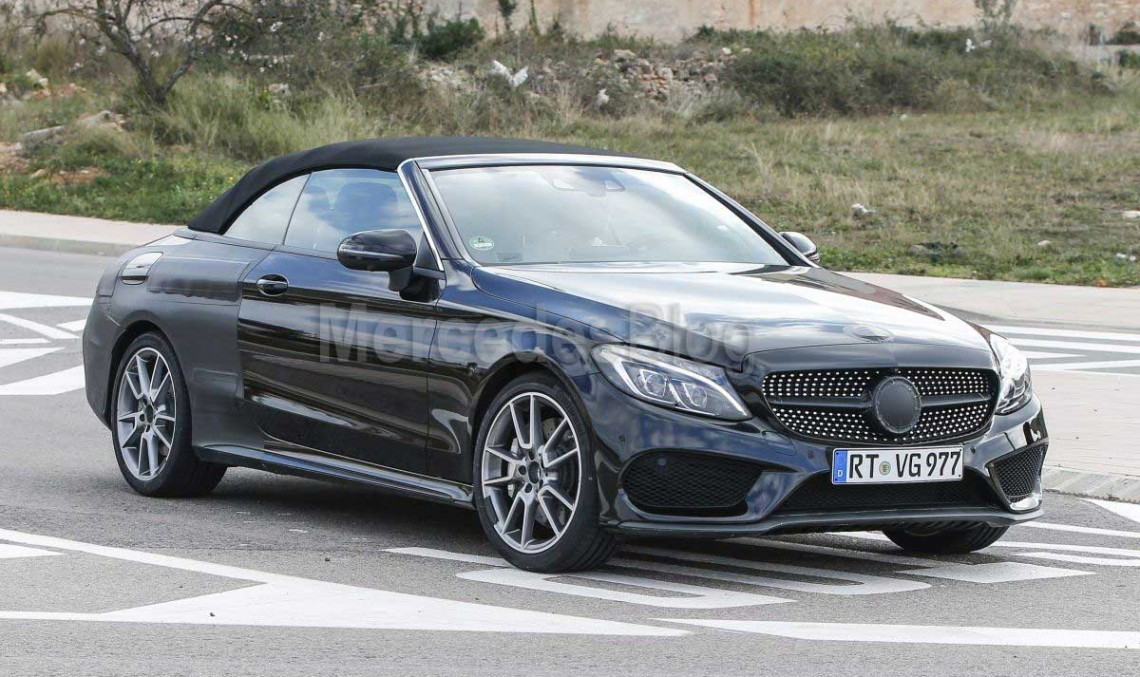 Mercedes C-Class Cabrio spied one last time before Geneva