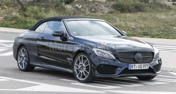 Mercedes C-Class Cabrio spied one last time before Geneva