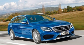 Sneak peek. 2017 Mercedes E-Class T-Modell almost undisguised