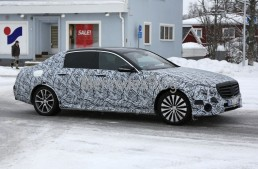 Luxury liner, size L. Mercedes-Maybach E-Class spied again