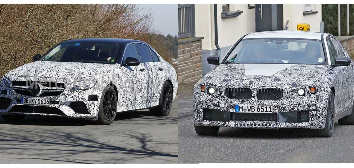 SPY GAME: New BMW M5 versus Mercedes-AMG E 63