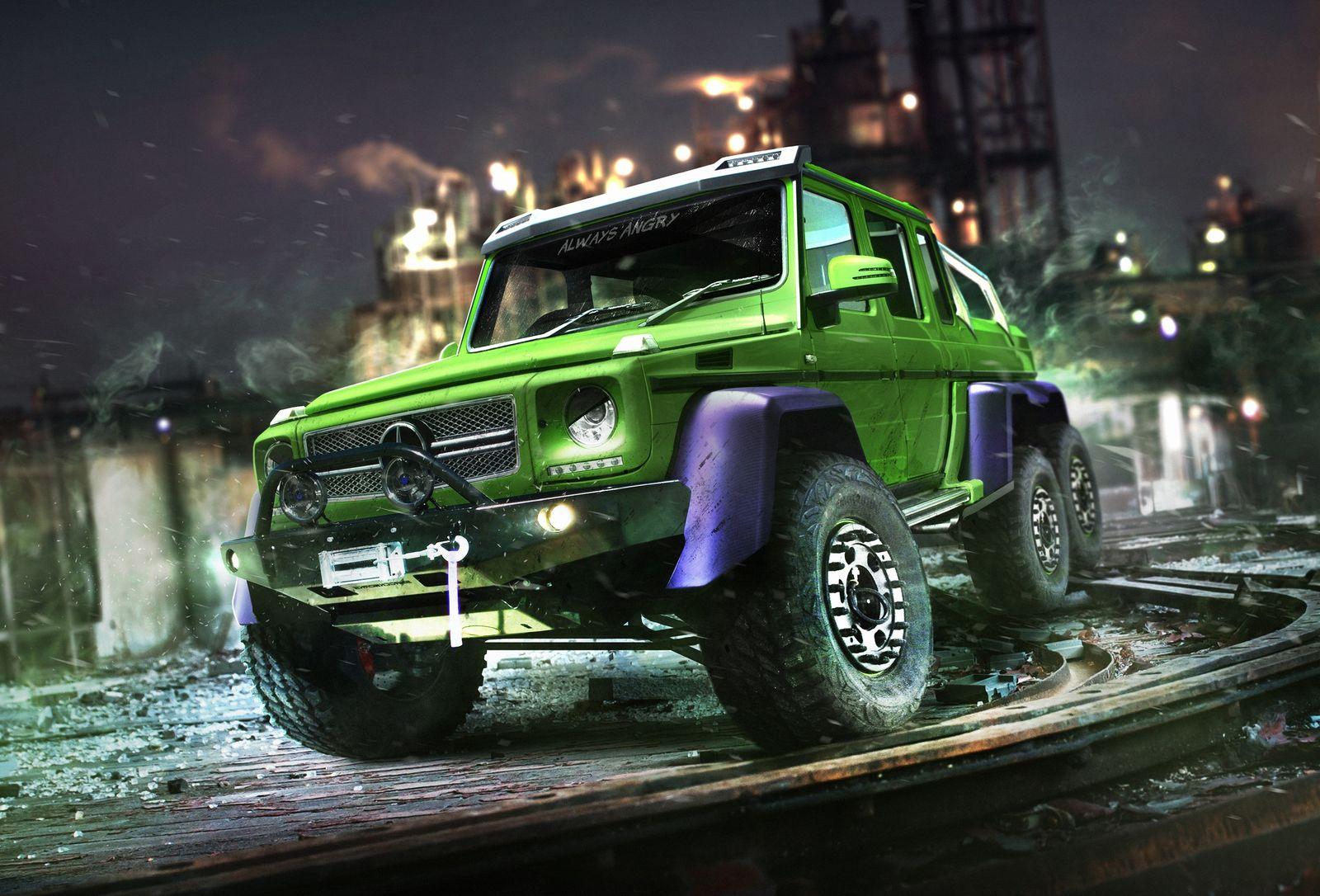 Hulk Mercedes G 63 6x6 Legendary Green Superhero Found