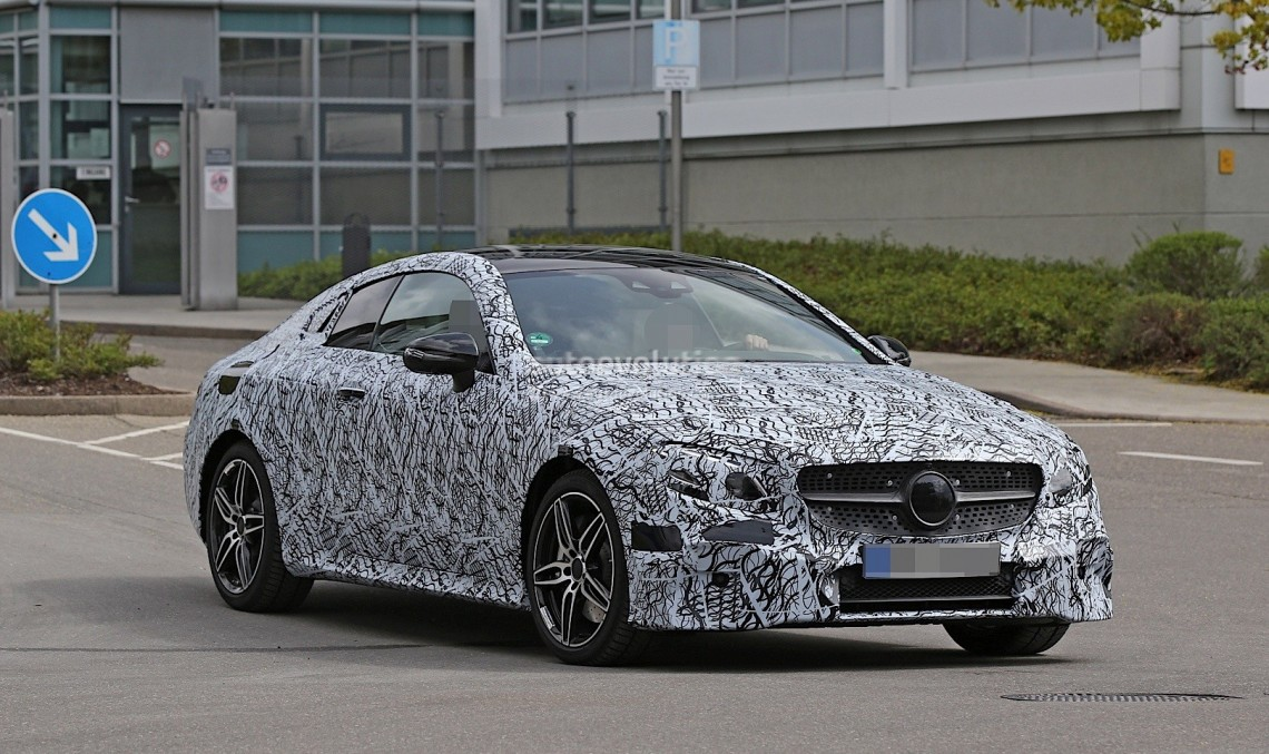 2017 Mercedes E-Class Coupe spied with minimal camouflage