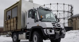This is the BurgerMog, the first-ever foodtruck Unimog