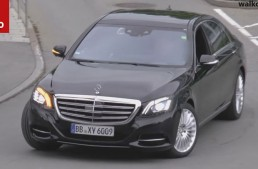 2017 Mercedes S-Class facelift spy video reveals new design cues