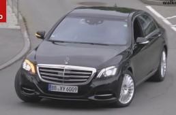 2017 Mercedes S-Class facelift spy video reveals new design cues