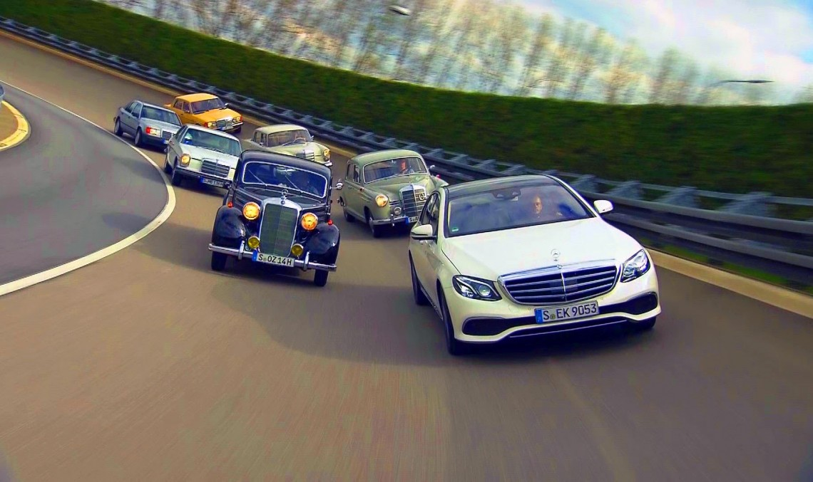 The time machine – The 2017 Mercedes-Benz E-Class meets its predecessors