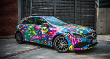 """A"" stands for ""art"". Mercedes-Benz A-Class cars covered in graffiti in Malaysia"