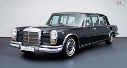 The Royal Benz – Mercedes-Benz 600 Pullman Landaulet used by Queen Elizabeth II is for sale
