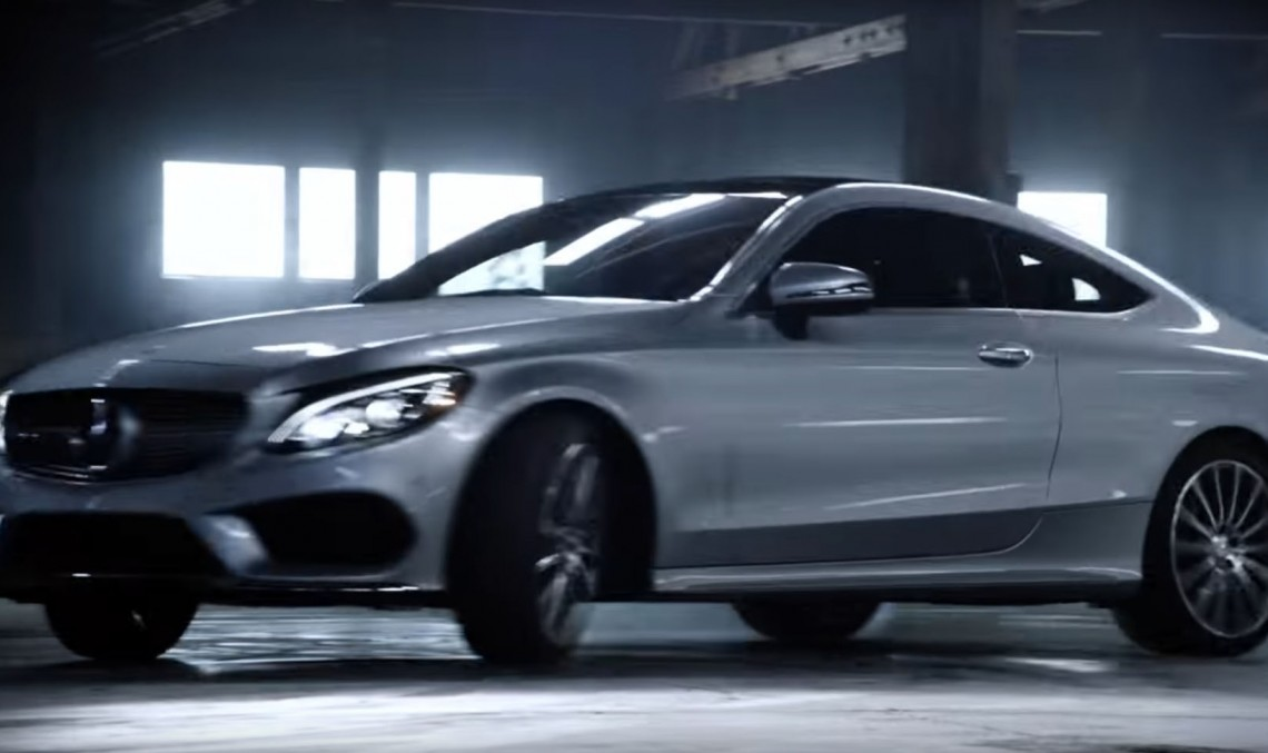 Don't Try This at Home. Mercedes C-Class Coupe tv ad takes it to the limit