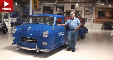 Jay Leno and his love for the Mercedes Blue Wonder transporter