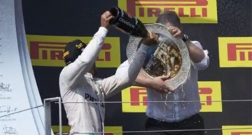 Captain America of Mercedes-AMG PETRONAS! How to survive the champagne attack on the podium