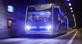 The world premiere of the Mercedes-Benz Future Bus