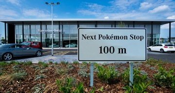 The Pokemon Go craze hits Mercedes-Benz