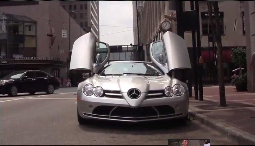 Meet the homeless man driving a Mercedes SLR McLaren