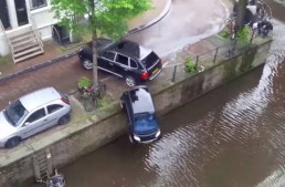 Actress Selma Hayek pushes tiny smart into the river in hit-and-run accident