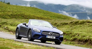 Honor your legacy. Mercedes SL 400 facelift driven