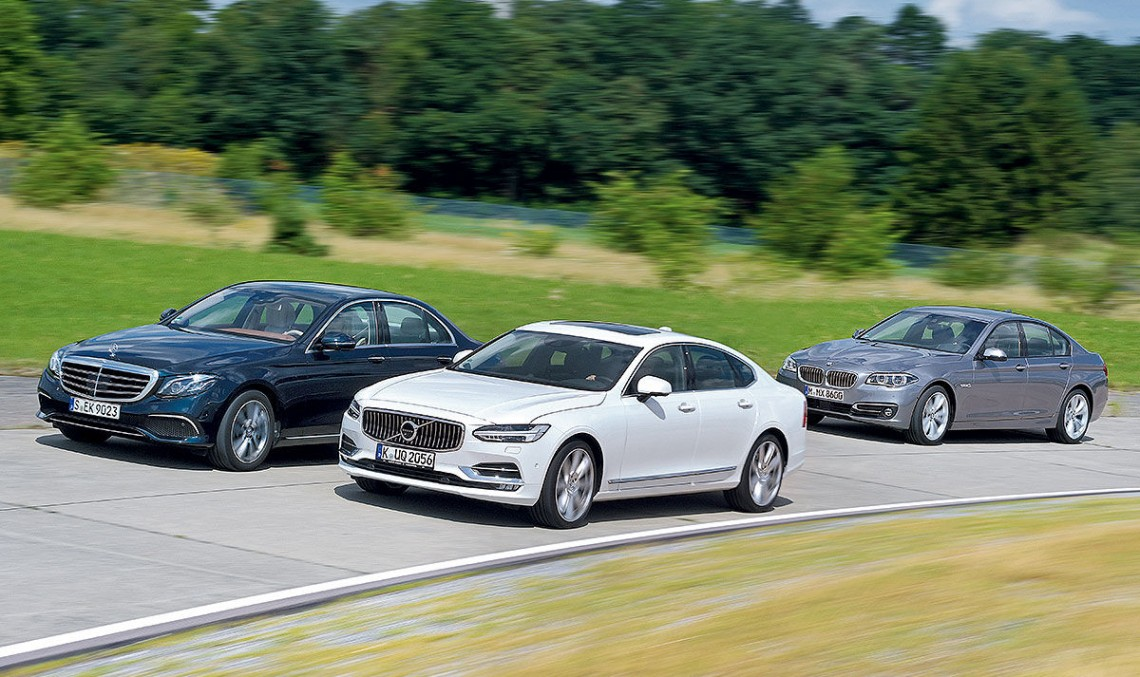 2017 Mercedes E-Class beats the Volvo S90 and BMW 5 Series