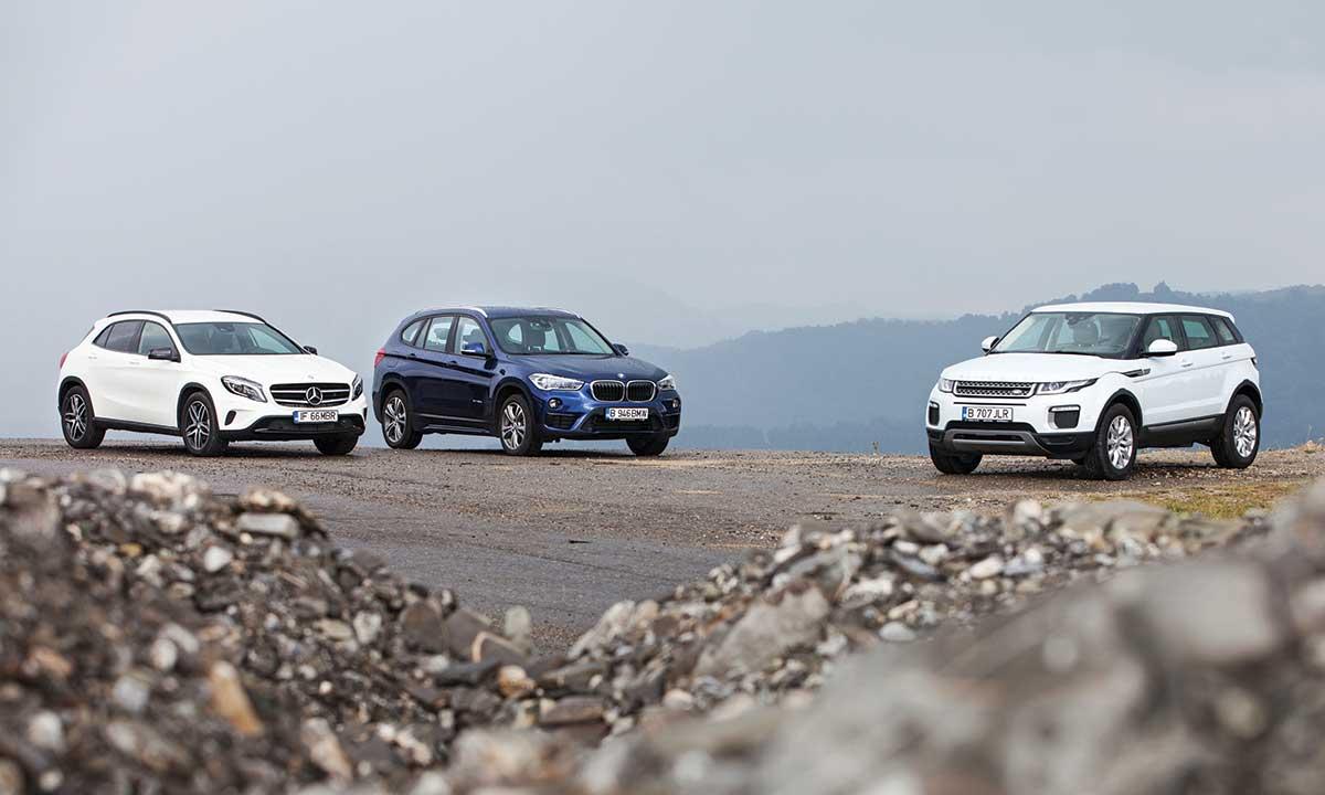 Best Compact Suv Mercedes Gla Versus Range Rover Evoque Bmw X1