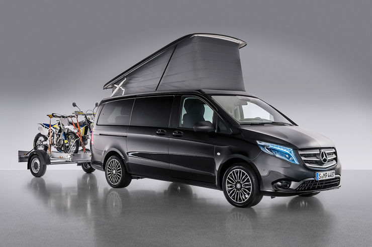 Mercedes at the Caravan Salon 2016: HymerCar, campers and Citan with roof tent