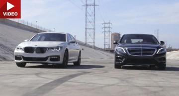 Clash of the Titans: Mercedes S 550 versus BMW 750i (video)