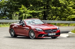 First test with the Mercedes-AMG SLC 43: Downsize succeeded
