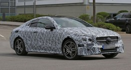 2017 Mercedes E-Class Coupe shows its sexy lines – new spy pics