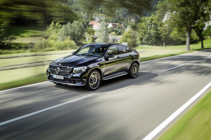 First video ever of the Mercedes-AMG GLC 43 Coupé – Better, faster, stronger