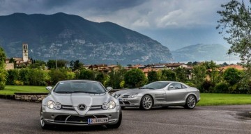 Donald Trump drives an Mercedes-Benz SLR McLaren