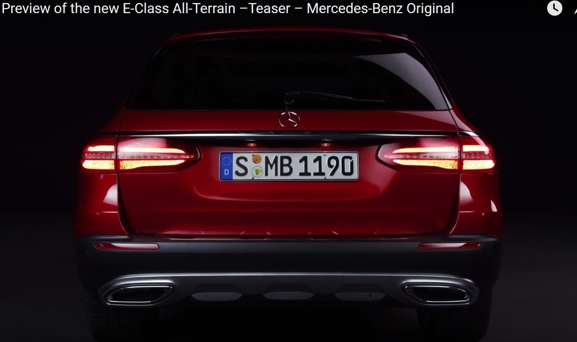 See me in Paris – New Mercedes-Benz E-Class All-Terrain teased
