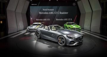 PARIS LIVE. Mercedes-AMG GT Roadster enjoys the Autumn sun