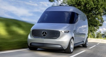 The Van of the Future: Mercedes Vision Van electric concept