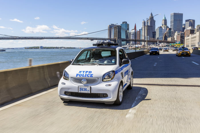 New York, New York… NYPD orders 250 smart fortwo cars