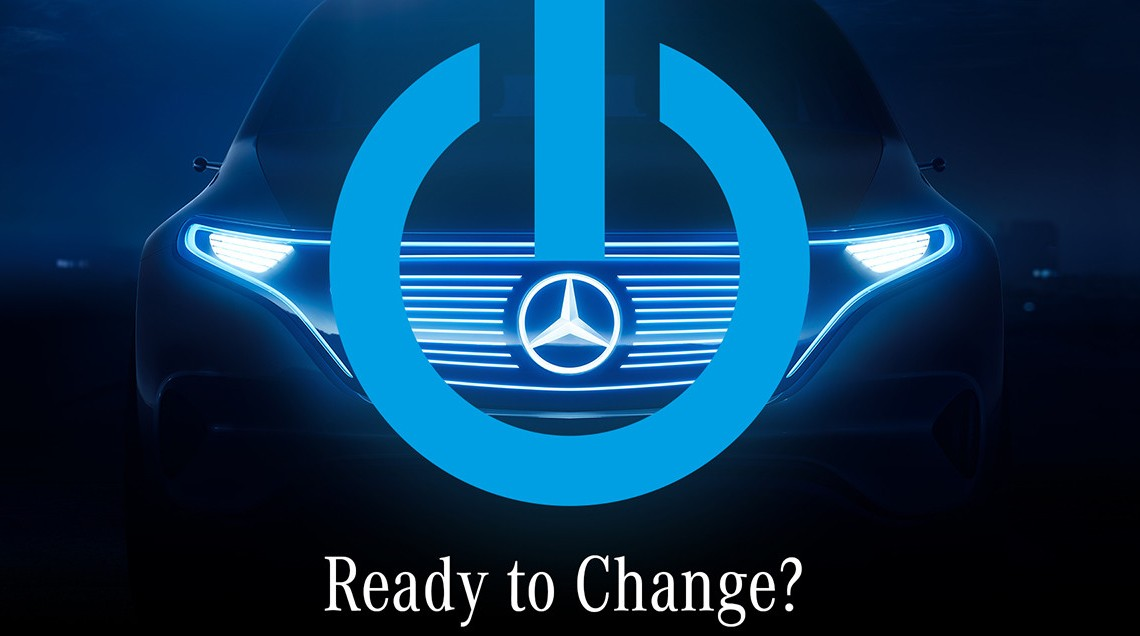 Wind of change – Mercedes is teasing the electric vehicle to be presented in Paris